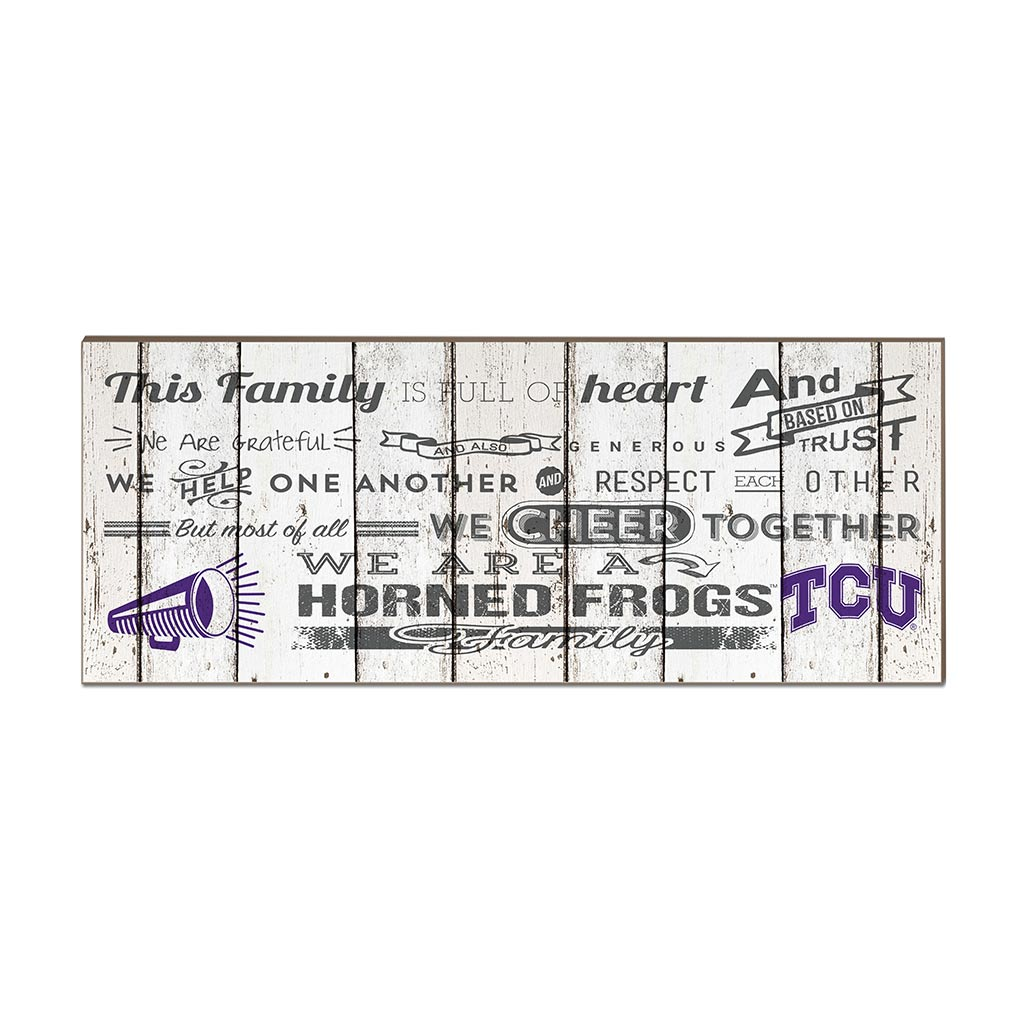 Small Weathered Family Cheer Texas Christian Horned Frogs