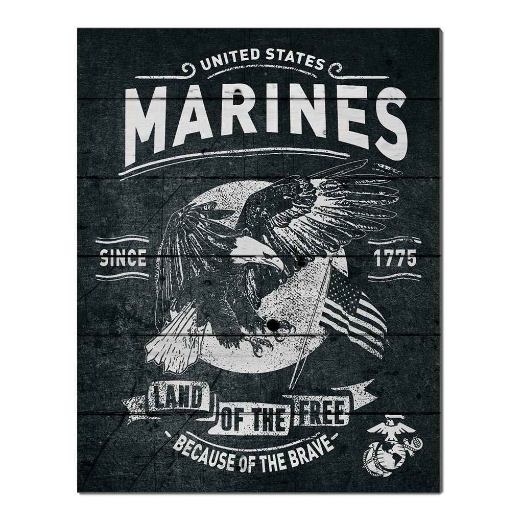 16x20 Pallet Pride - Flag With Eagle Marines