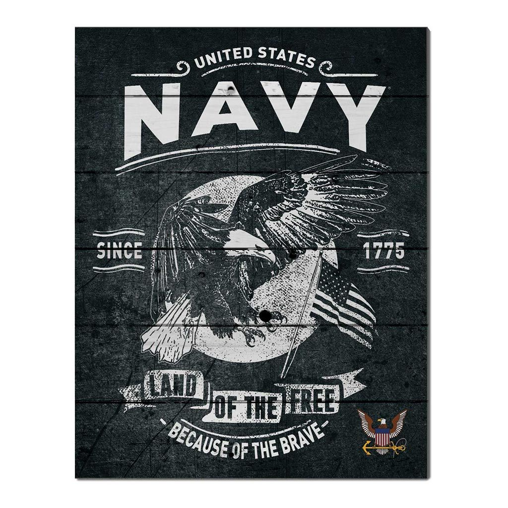 16x20 Pallet Pride - Flag With Eagle Navy