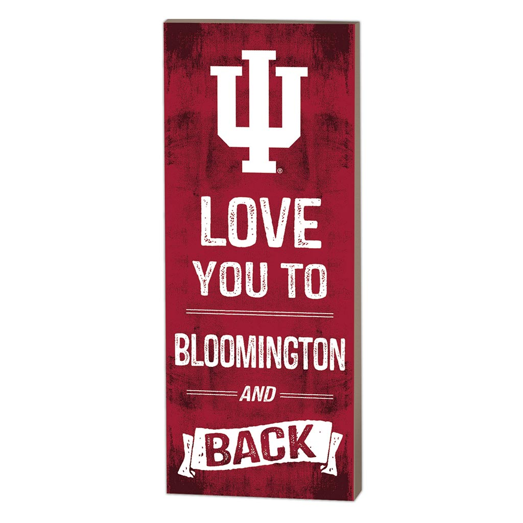 7x18 Logo Love You To Indiana Hoosiers