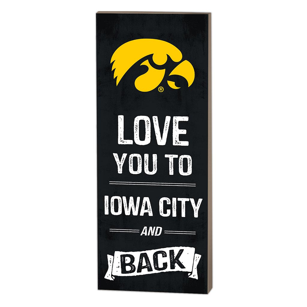 7x18 Logo Love You To Iowa Hawkeyes