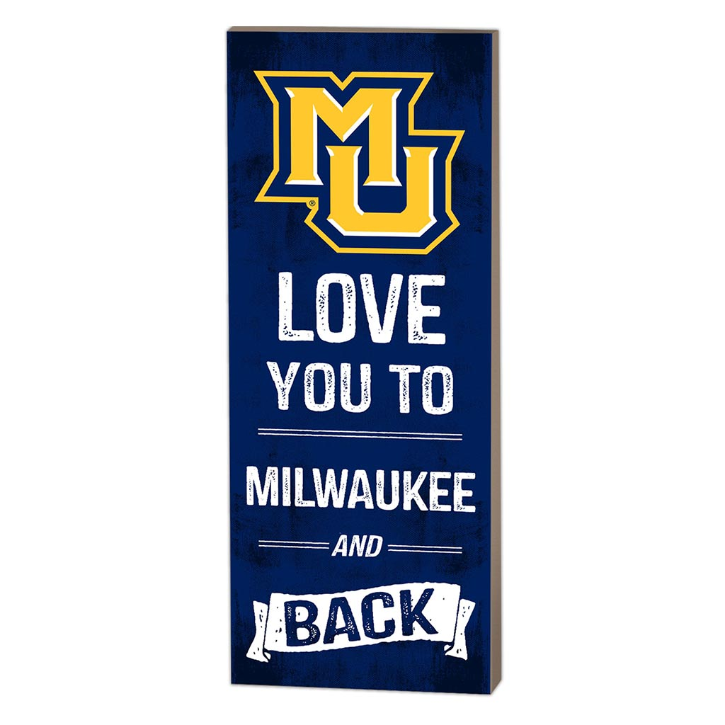 7x18 Logo Love You To Marquette Golden Eagles