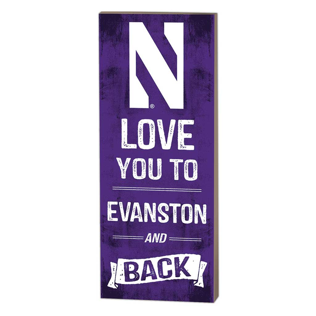 7x18 Logo Love You To Northwestern Wildcats