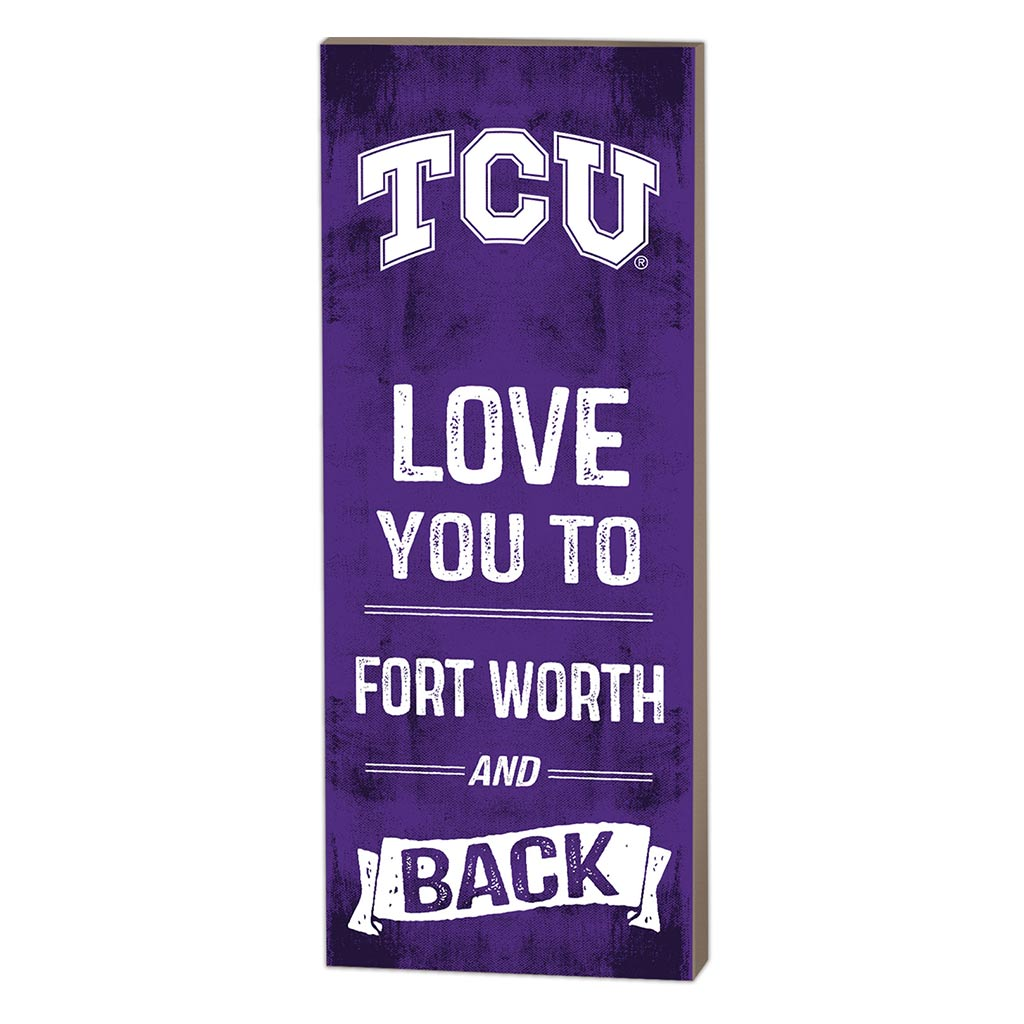 7x18 Logo Love You To Texas Christian Horned Frogs