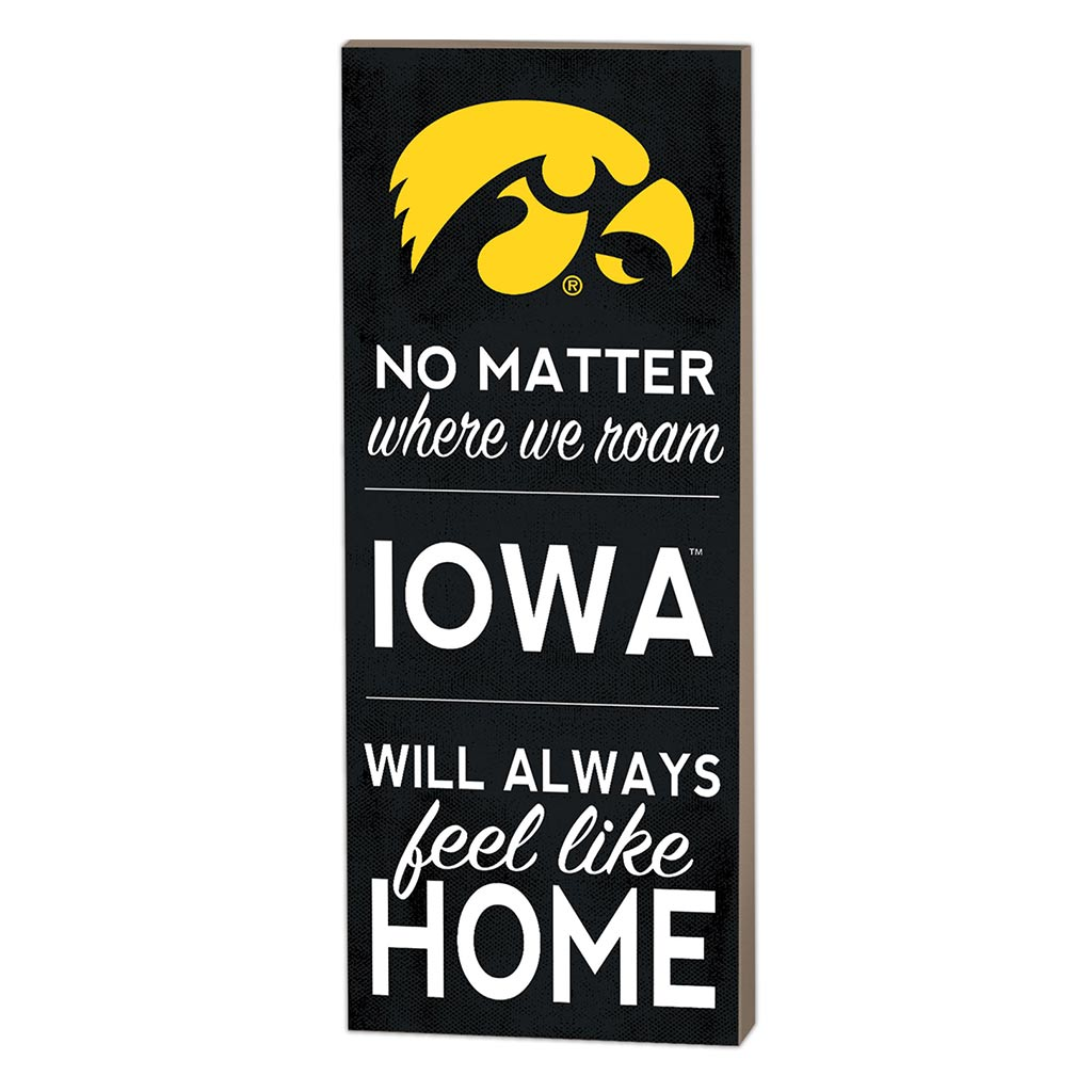 7x18 No Matter Where Iowa Hawkeyes