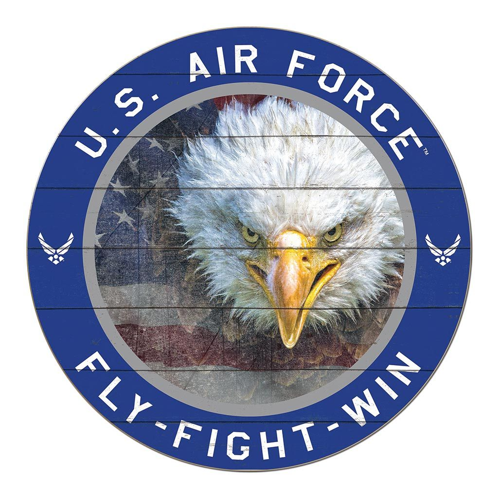 20x20 Circle Flag with Eagle Air Force