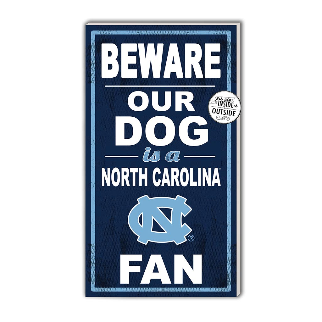 11x20 In\Outdoor Sign BEWARE of Dog North Carolina (Chapel Hill) Tar Heels