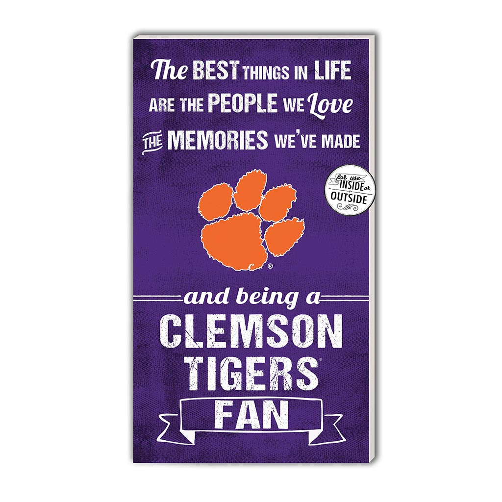 11x20 In\Outdoor Sign The Best Things Clemson Tigers