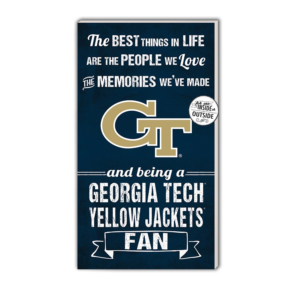 11x20 In\Outdoor Sign The Best Things Georgia Tech Yellow Jackets