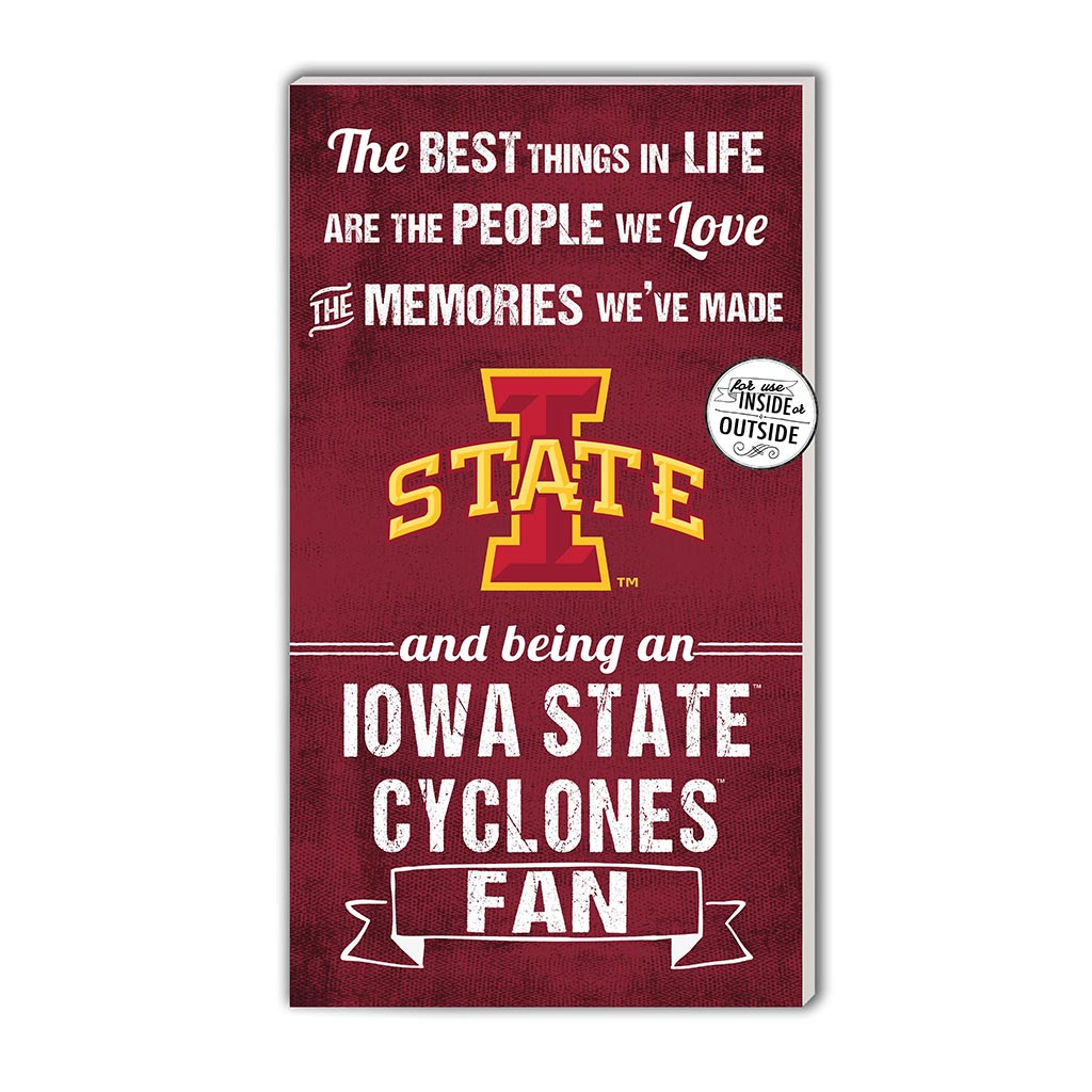 11x20 In\Outdoor Sign The Best Things Iowa State Cyclones