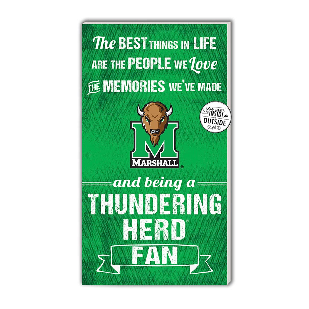 11x20 In\Outdoor Sign The Best Things Marshall Thundering Herd