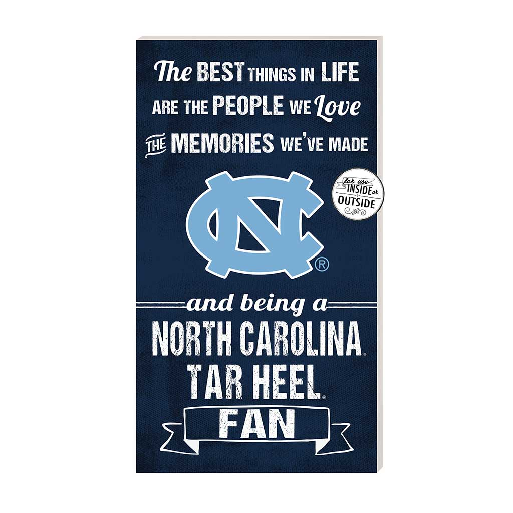 11x20 In\Outdoor Sign The Best Things North Carolina (Chapel Hill) Tar Heels