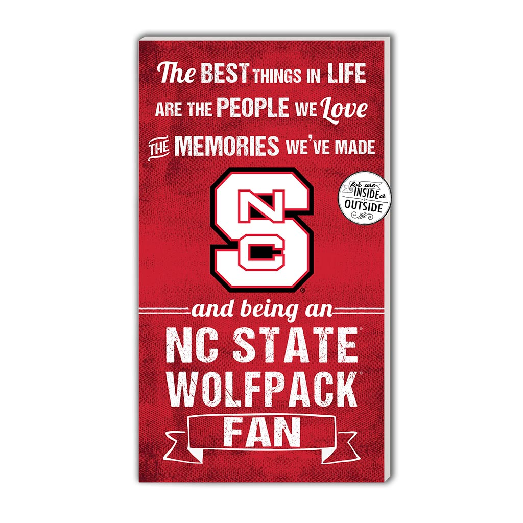 11x20 In\Outdoor Sign The Best Things North Carolina State Wolfpack