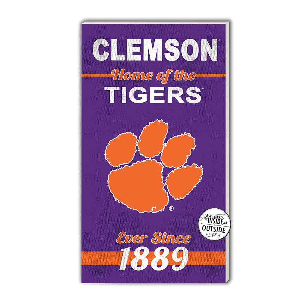 11x20 In\Outdoor Sign Home of the Clemson Tigers