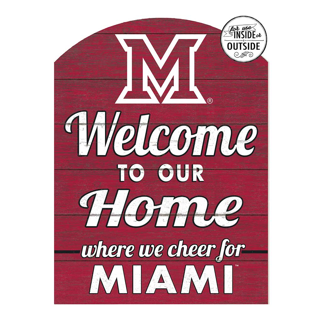 22x16 In\Outdoor Marquee Sign Miami of Ohio Redhawks