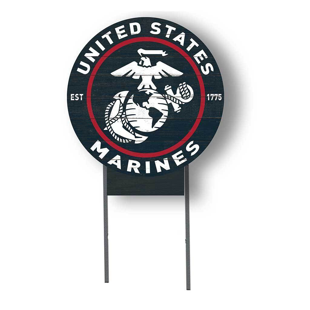 Colored Logo Marines Lawn Sign