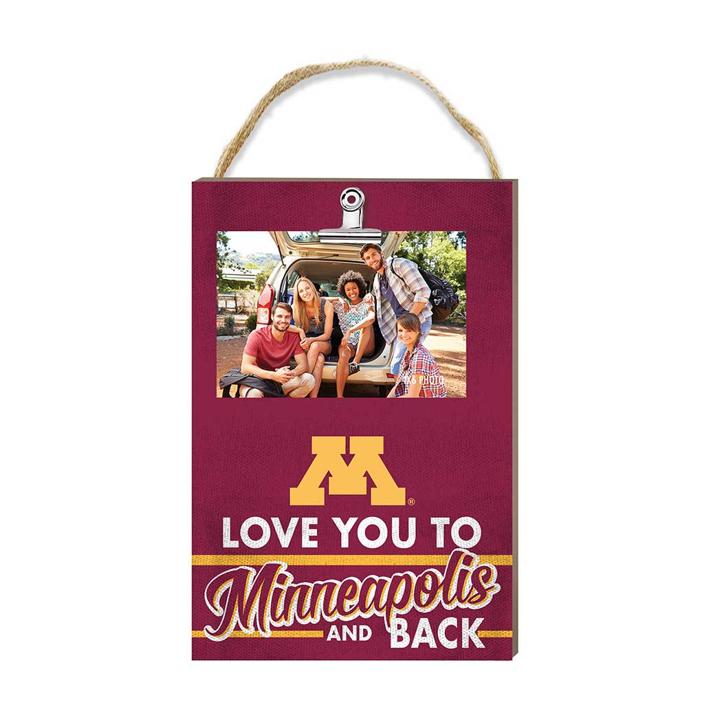 Hanging Clip Photo Frame Love You To Minnesota Golden Gophers