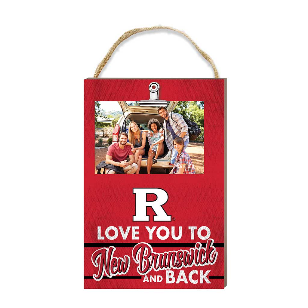 Hanging Clip Photo Frame Love You To Rutgers Scarlet Knights
