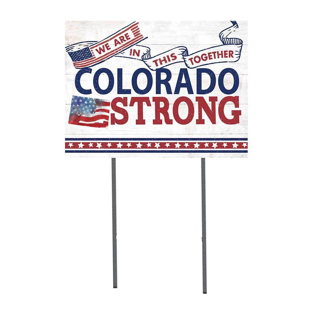 Colorado Strong Lawn Sign