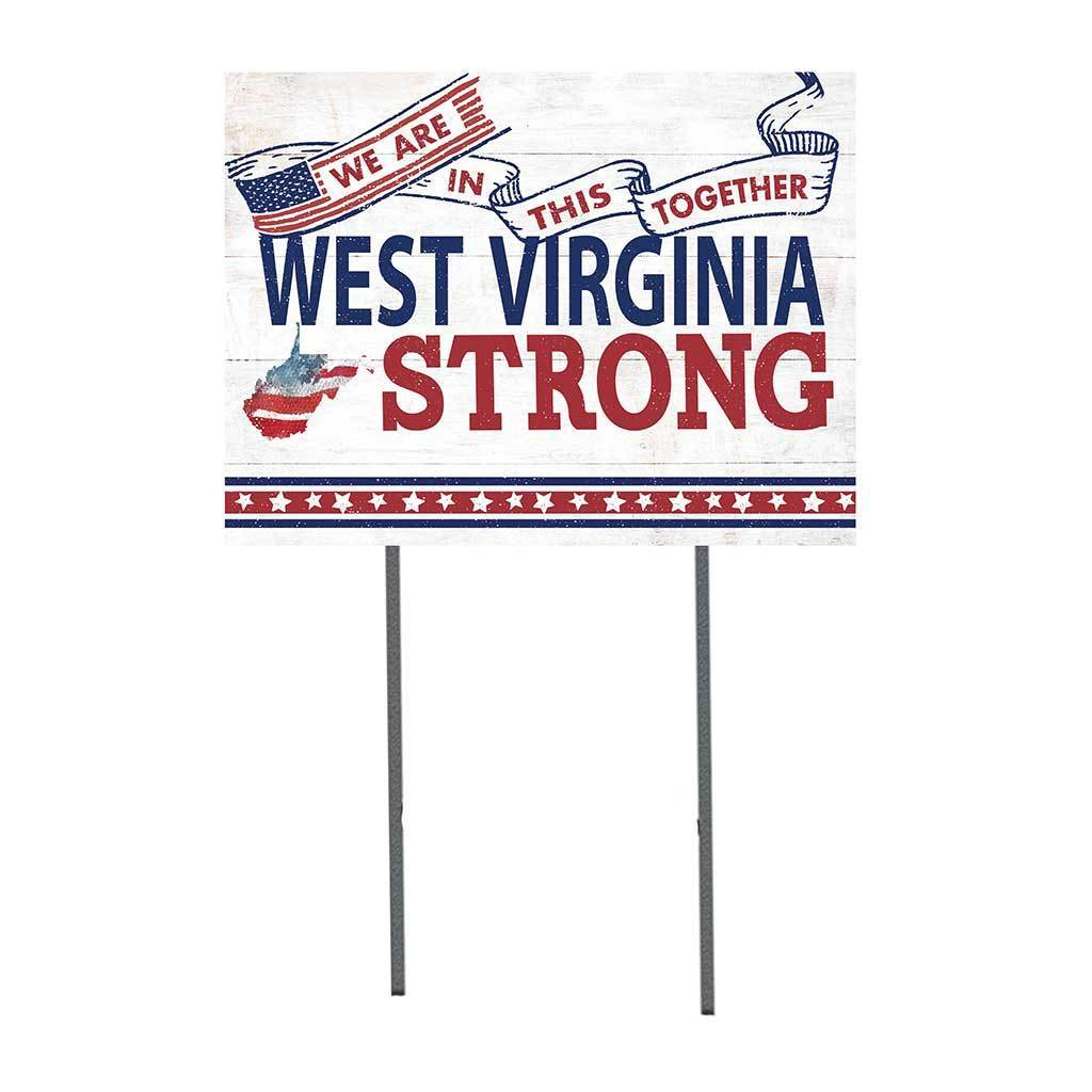 West Virginia Strong Lawn Sign
