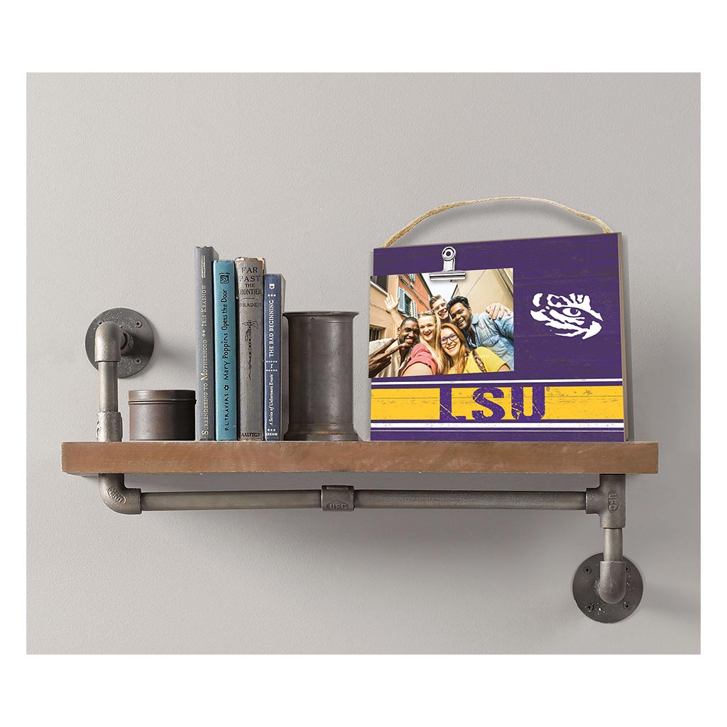 Clip It Colored Logo Photo Frame LSU Tigers