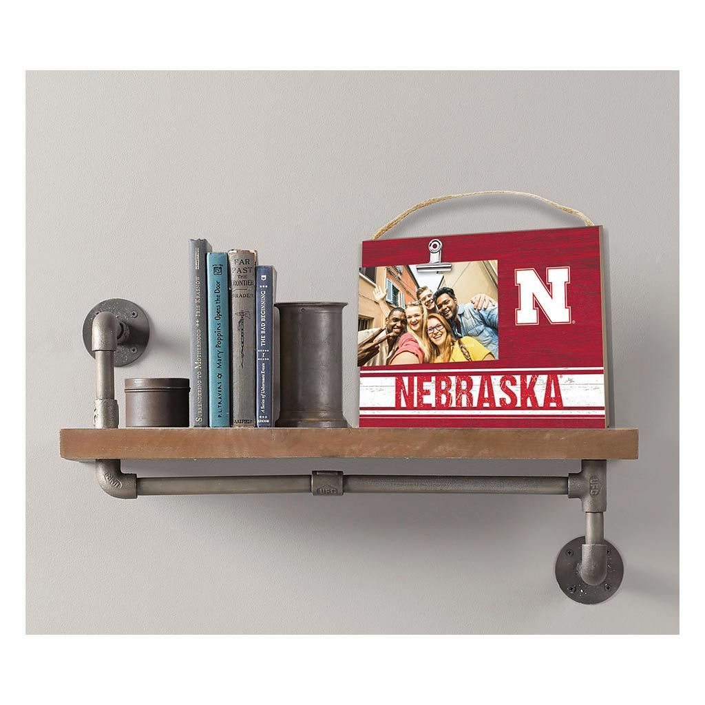 Clip It Colored Logo Photo Frame Nebraska Cornhuskers