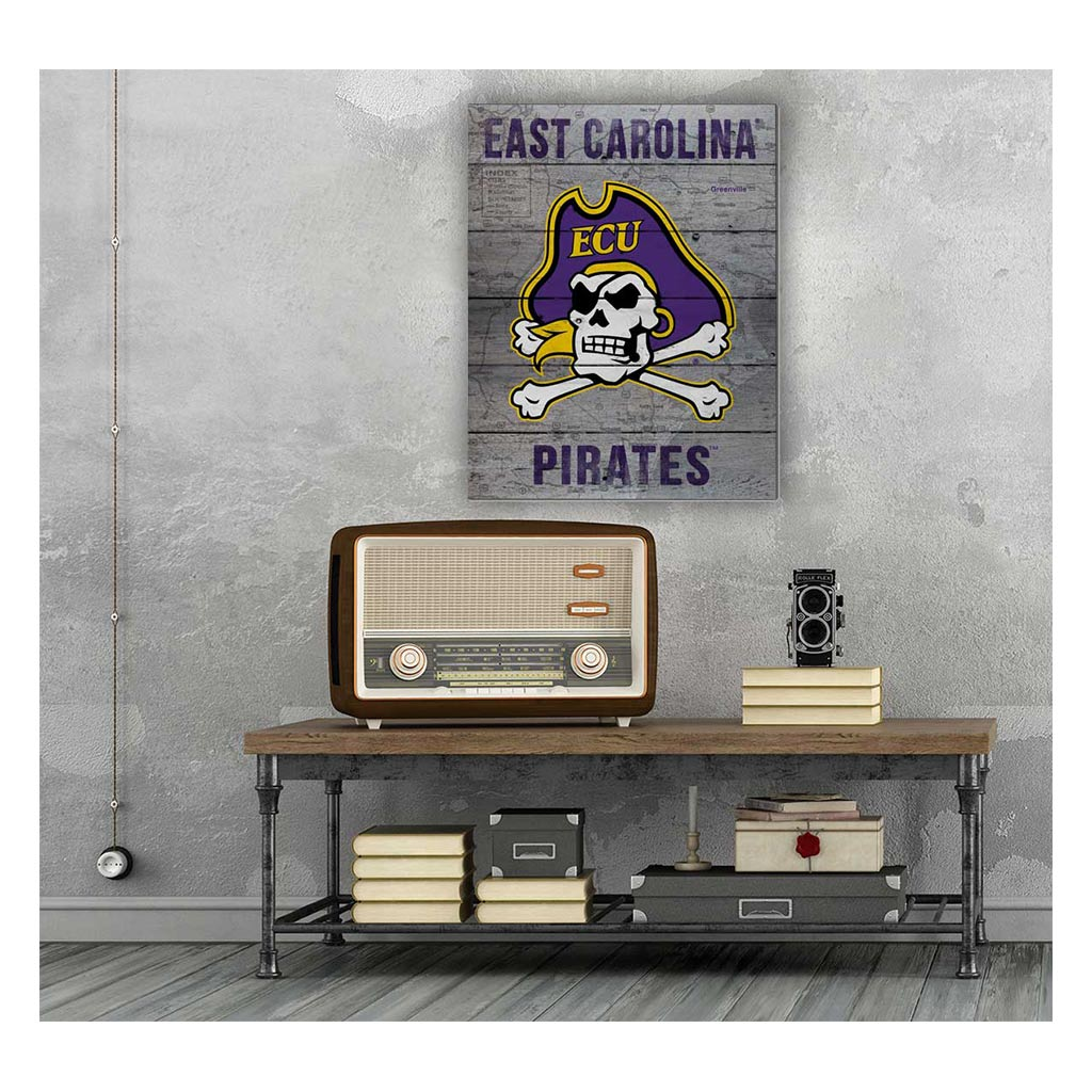 16x20 Pallet Pride - Road to Victory East Carolina Pirates