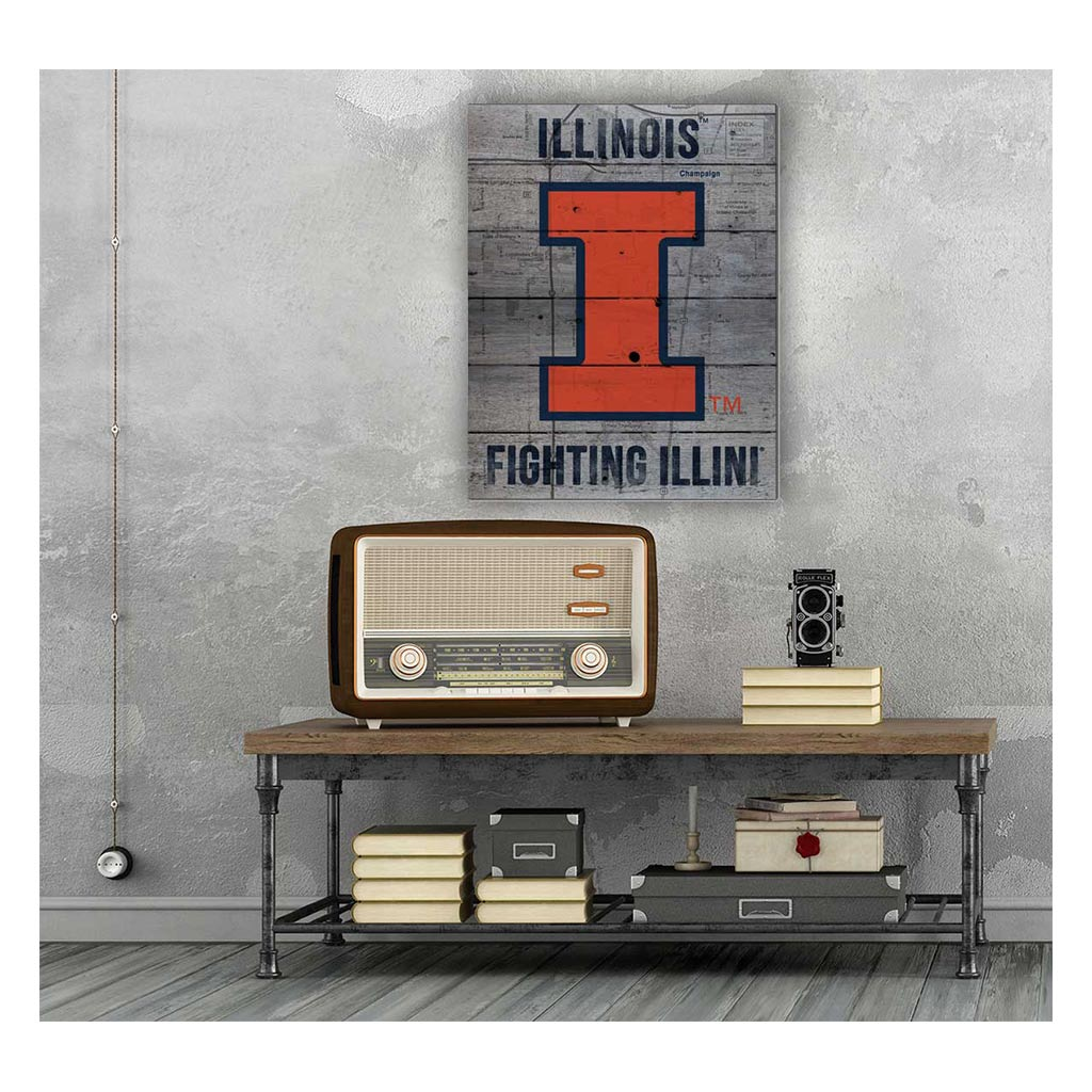 16x20 Pallet Pride - Road to Victory Illinois Fighting Illini