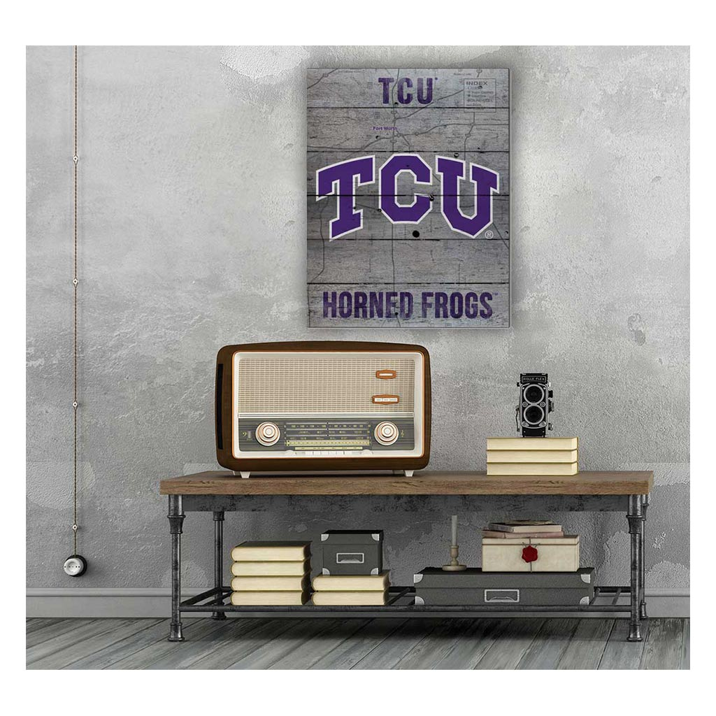 16x20 Pallet Pride - Road to Victory Texas Christian Horned Frogs