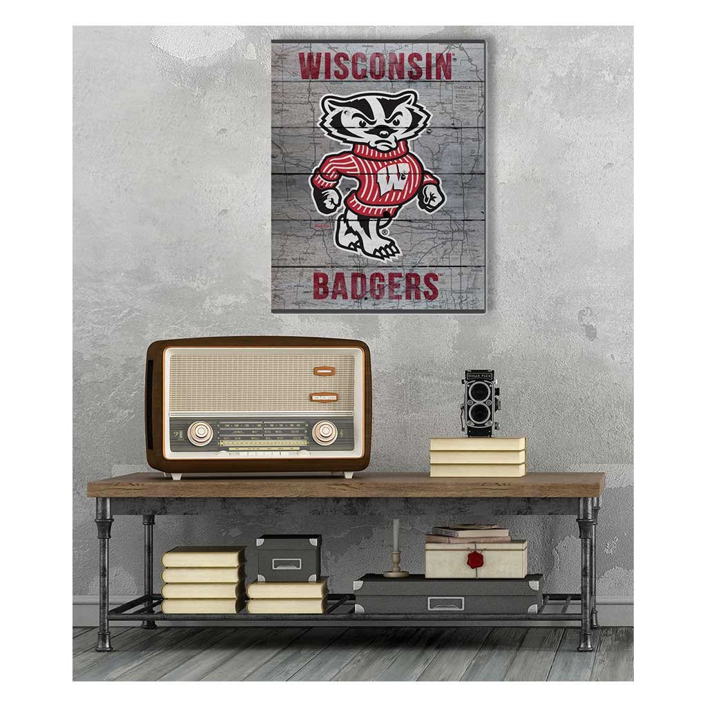 16x20 Pallet Pride - Road to Victory Wisconsin Badgers