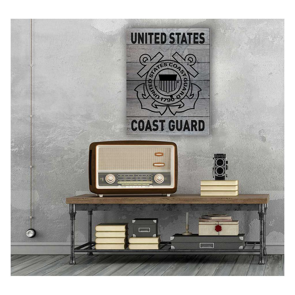 16x20 Pallet Pride - Gray Weathered Logo Coast Guard
