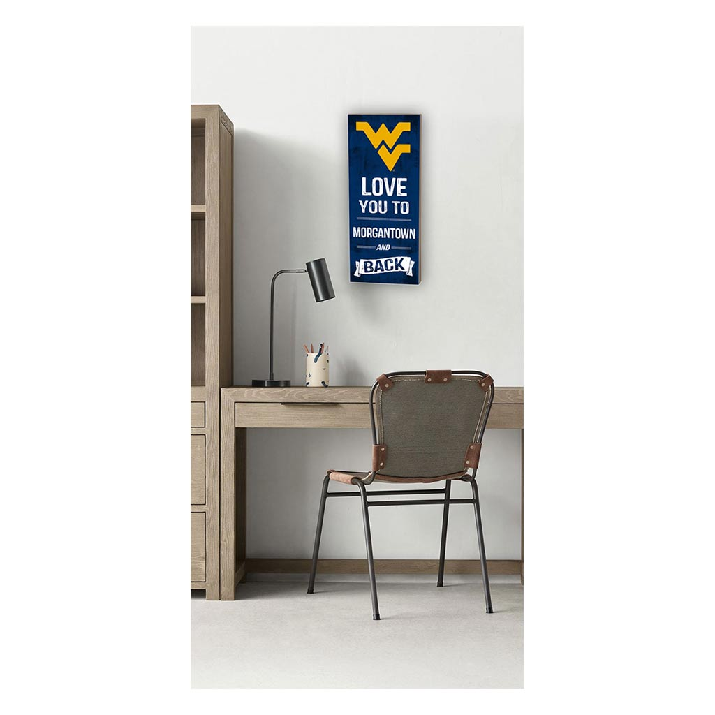 7x18 Logo Love You To West Virginia Mountaineers