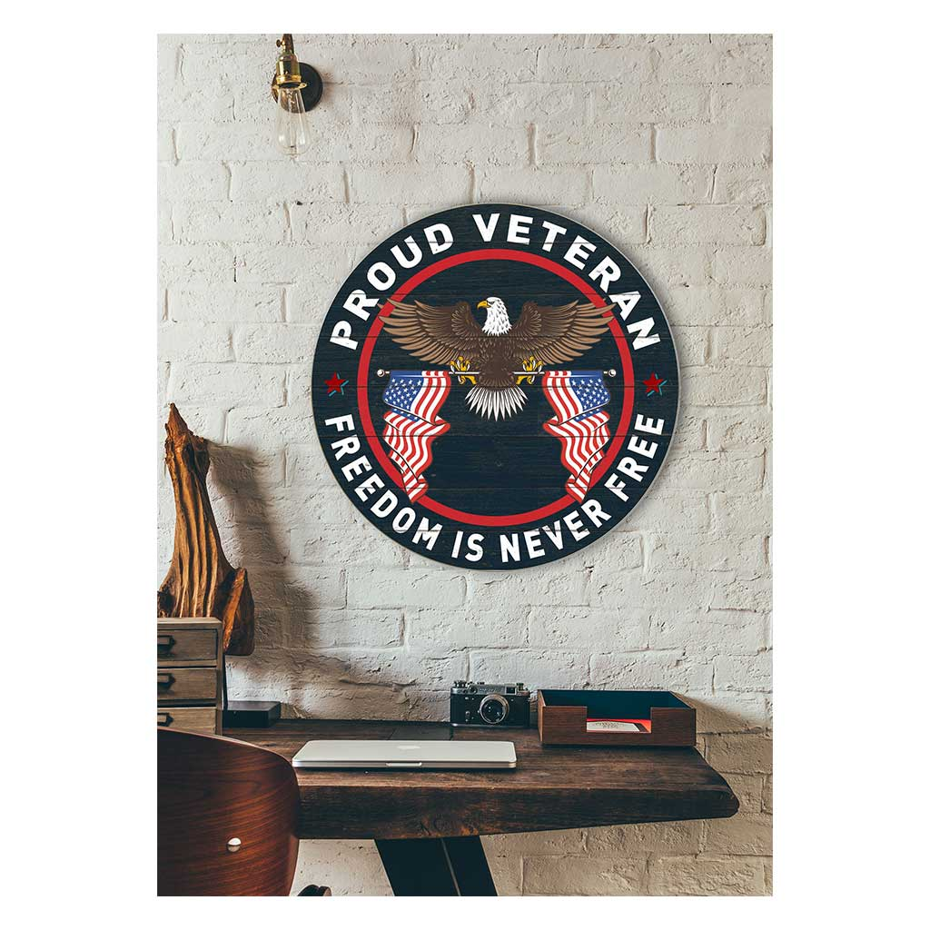 20x20 Proud Veteran Circle Sign