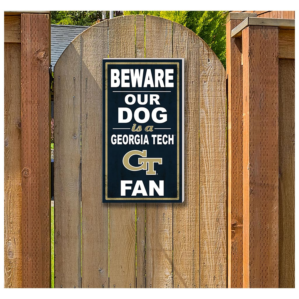 11x20 In\Outdoor Sign BEWARE of Dog Georgia Tech Yellow Jackets