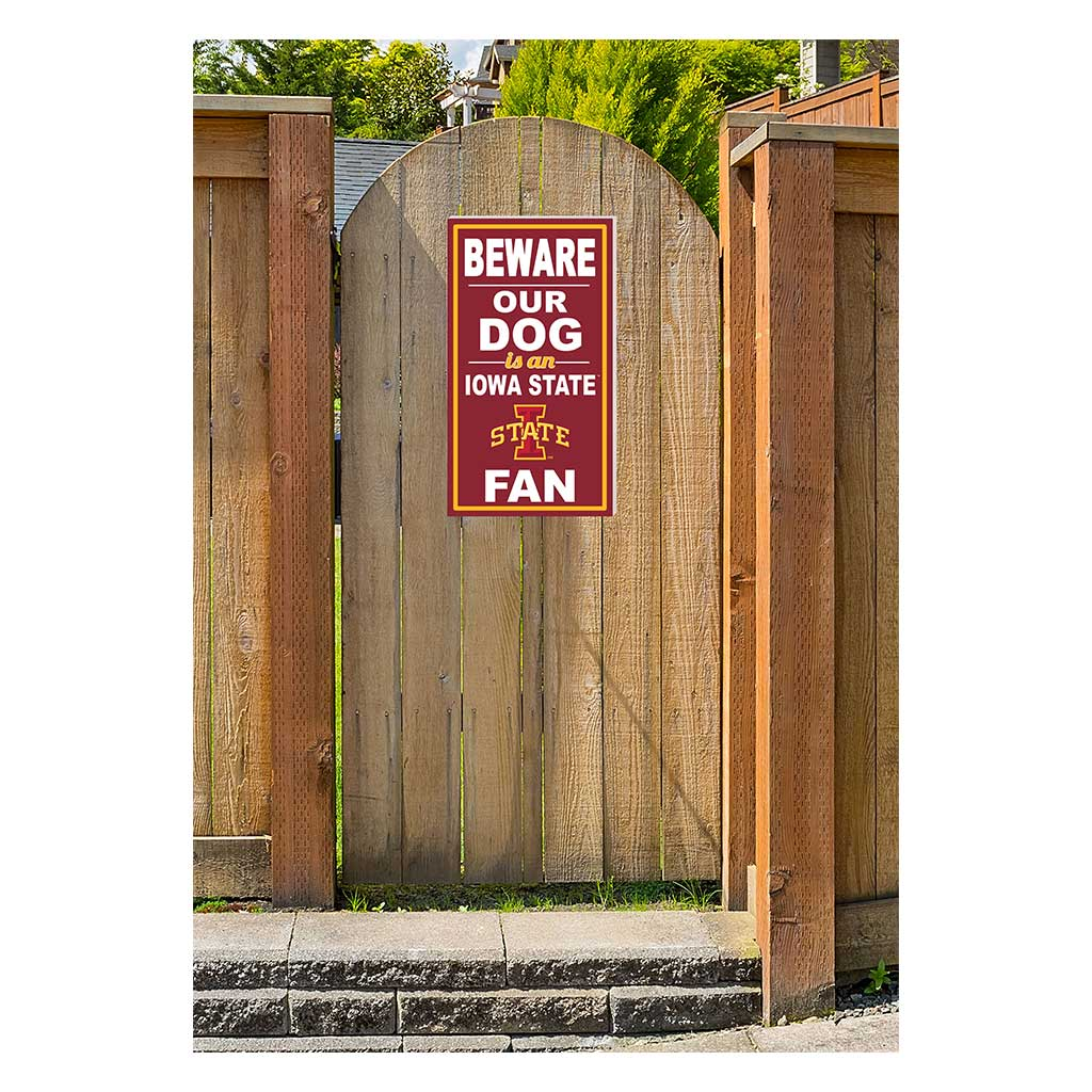 11x20 In\Outdoor Sign BEWARE of Dog Iowa State Cyclones