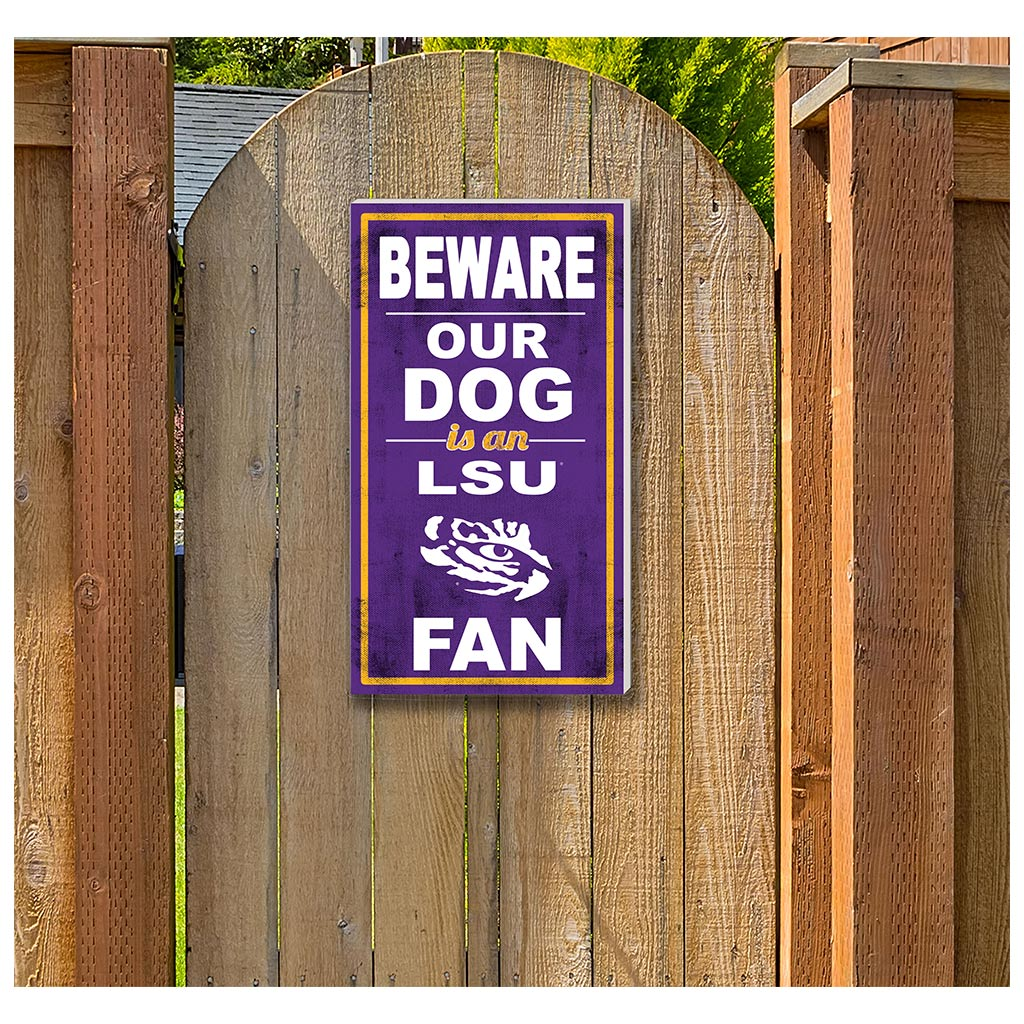 11x20 In\Outdoor Sign BEWARE of Dog LSU Tigers