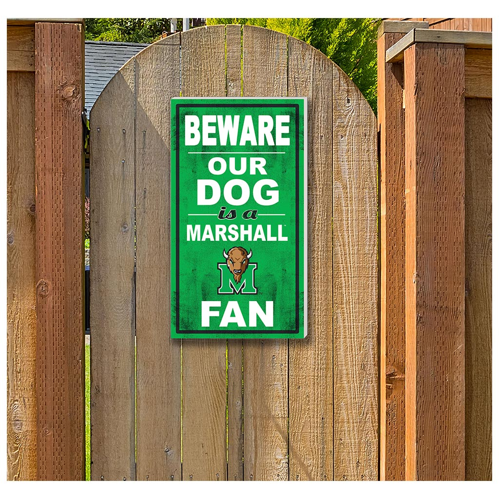 11x20 In\Outdoor Sign BEWARE of Dog Marshall Thundering Herd
