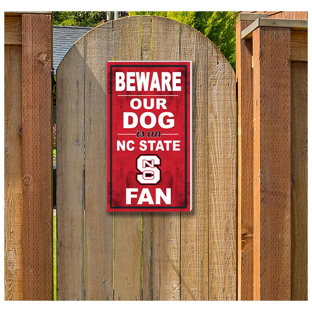 11x20 In\Outdoor Sign BEWARE of Dog North Carolina State Wolfpack