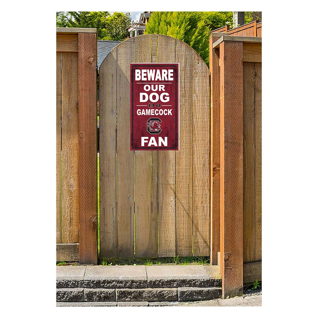 11x20 In\Outdoor Sign BEWARE of Dog South Carolina Gamecocks