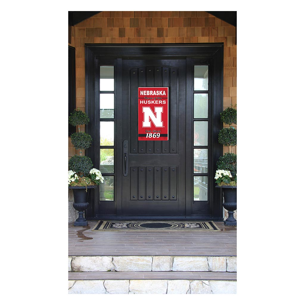 11x20 In\Outdoor Sign Home of the Nebraska Cornhuskers