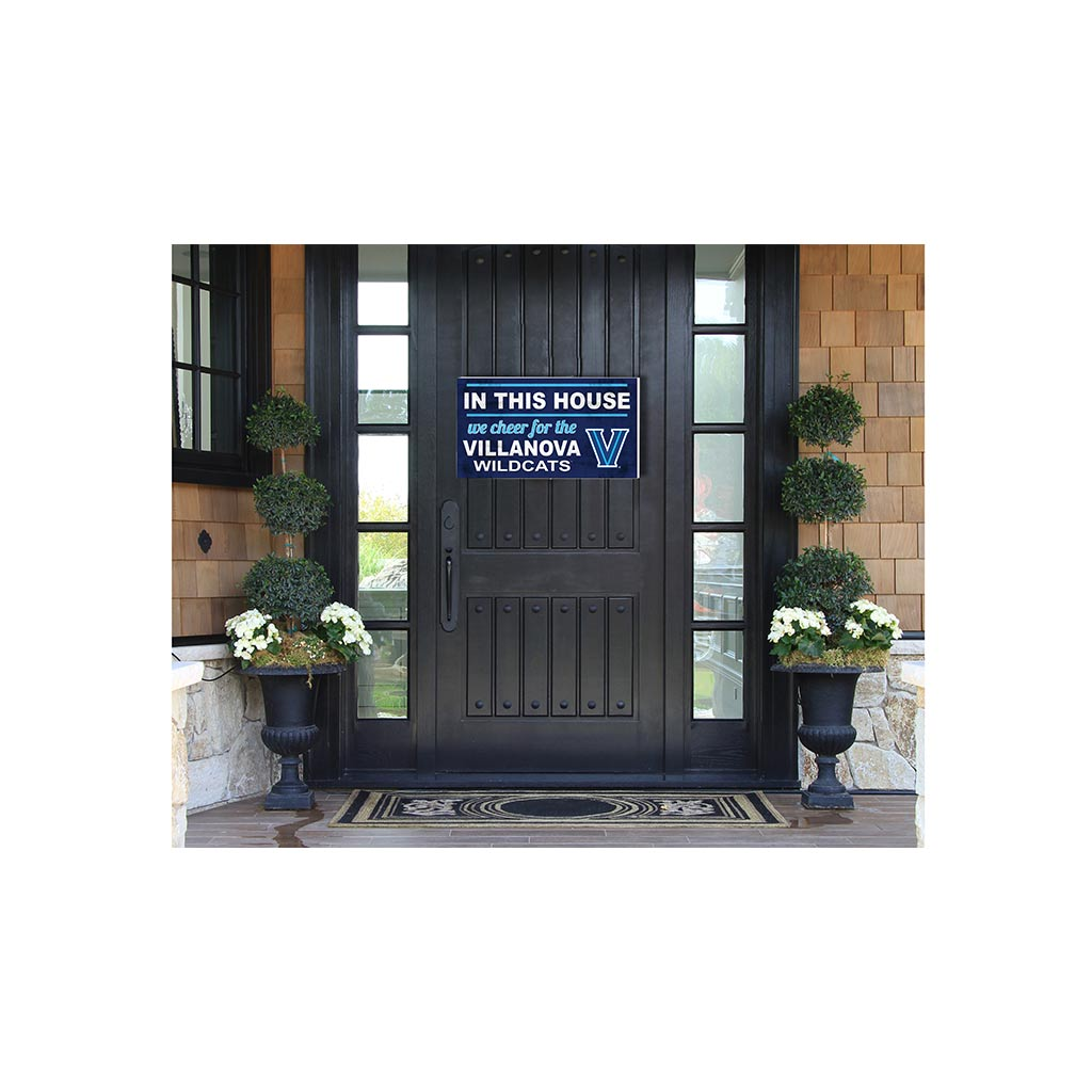 20x11 In\Outdoor Sign In This House Villanova Wildcats