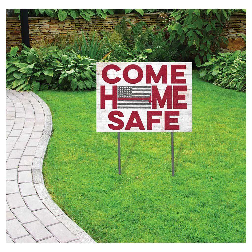 Come Home Safe Red Line Firefighter Lawn Sign