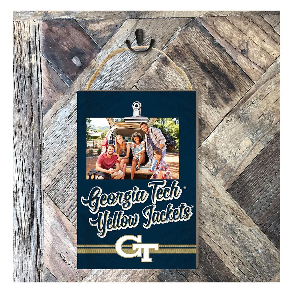 Hanging Clip Photo Frame Colored Logo Georgia Tech Yellow Jackets