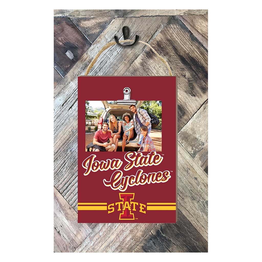 Hanging Clip Photo Frame Colored Logo Iowa State Cyclones