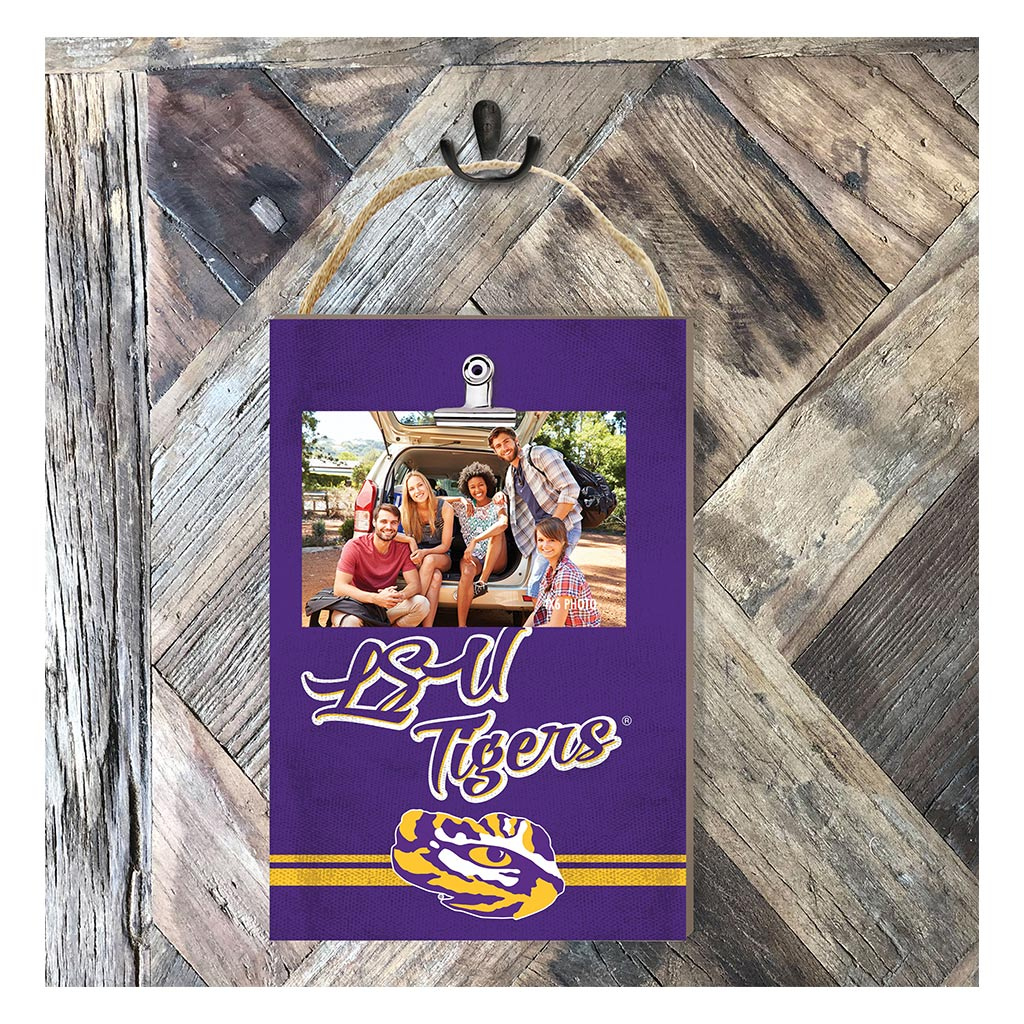 Hanging Clip Photo Frame Colored Logo LSU Tigers