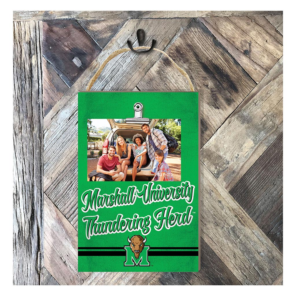 Hanging Clip Photo Frame Colored Logo Marshall Thundering Herd