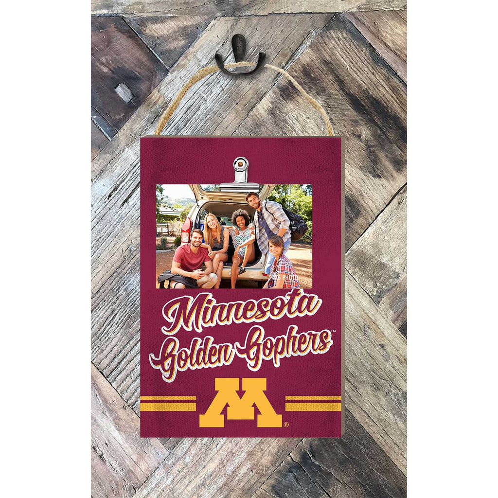 Hanging Clip Photo Frame Colored Logo Minnesota Golden Gophers