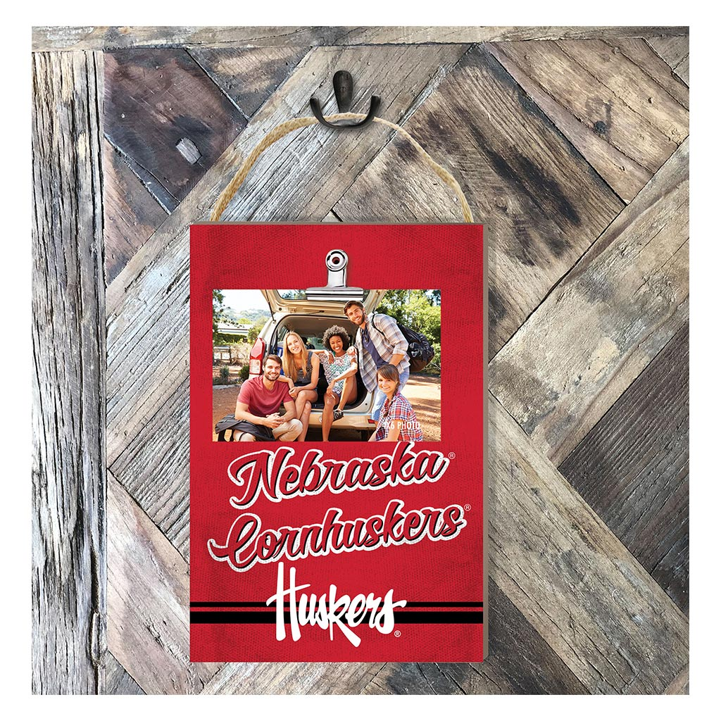 Hanging Clip Photo Frame Colored Logo Nebraska Cornhuskers