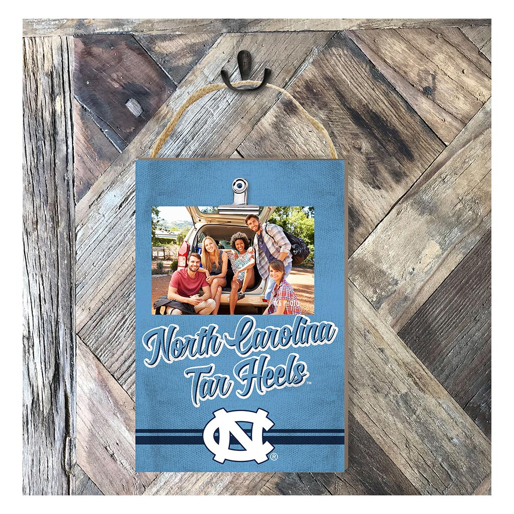 Hanging Clip Photo Frame Colored Logo North Carolina (Chapel Hill) Tar Heels