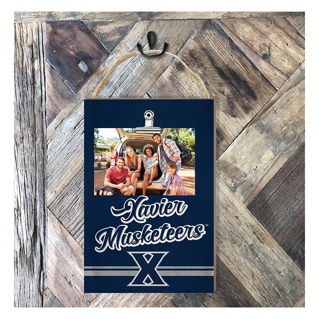 Hanging Clip Photo Frame Colored Logo Xavier Ohio Musketeers